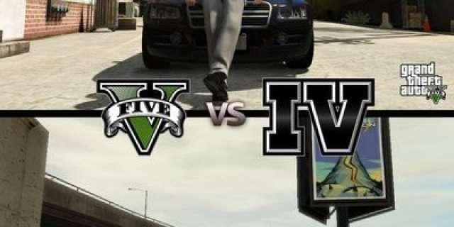 Comparação do GTA IV com GTA V!