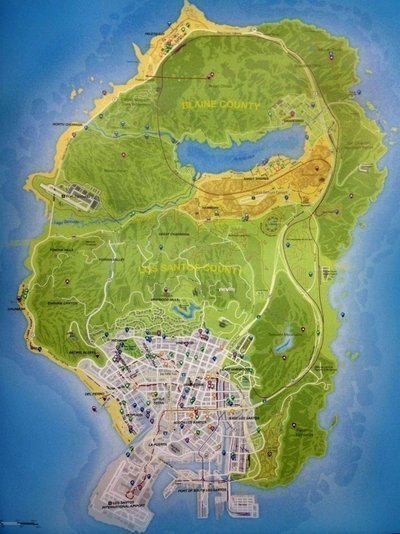 Vaza o mapa do game GTA 5