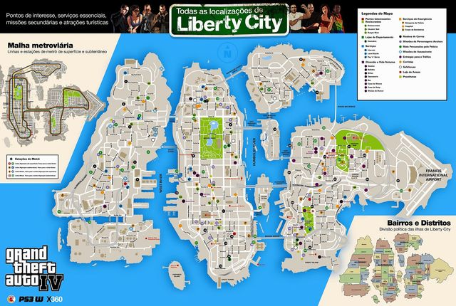 Mapa do GTA 4