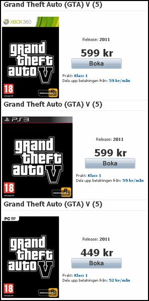 Pre venda de GTA V